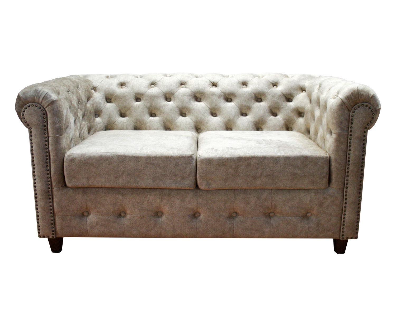 диван 2-местный Кантри с отделкой декоративными гвоздиками