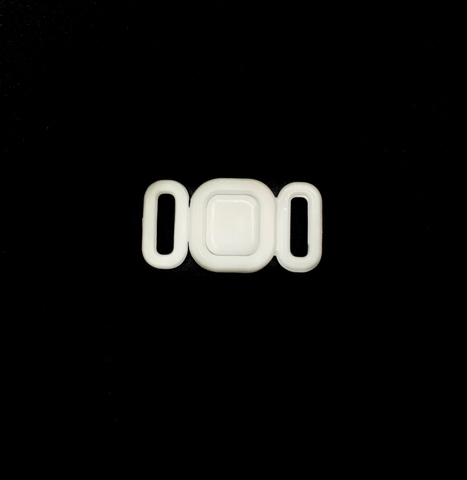 Застежка пластик 9 мм белая