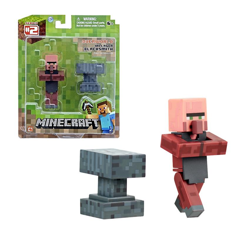 Фигурка Minecraft Blacksmith Кузнец пластик 8см