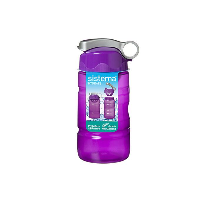 """Бутылка для воды Sistema """"Hydrate"""" 560 мл, цвет Фиолетовый"""