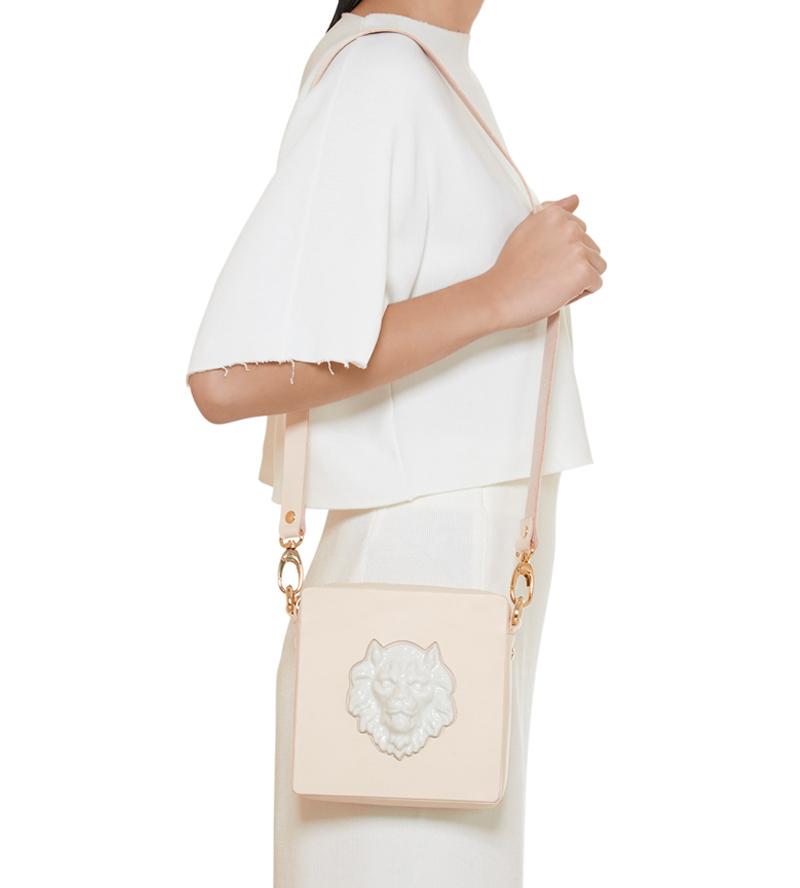 Квадратная сумка из кожи Lion от ANDRES GALLARDO