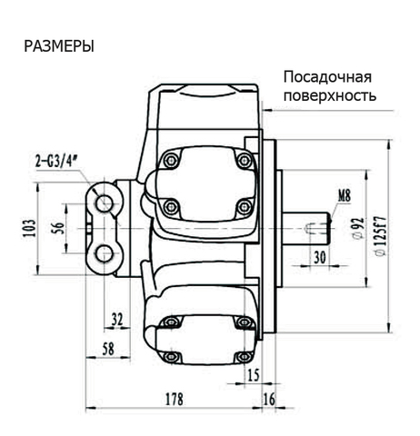 Гидромотор IPM1-125