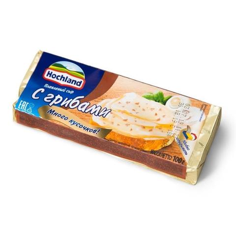 Сыр плавл HOCHLAND Грибы 100 гр блок РОССИЯ