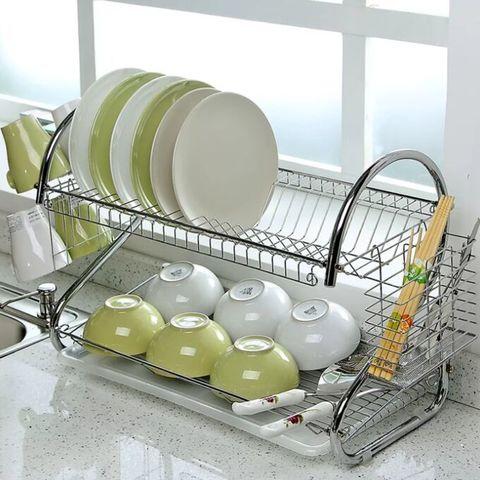Сушилка для посуды 2-х ярусная настольная SAKURA