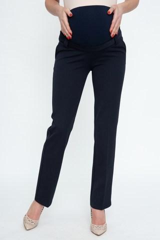 Утепленные брюки для беременных 10076 синий