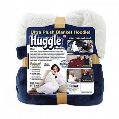 Плед Huggle с рукавами и капюшоном Ultra Plush Blanket Hoodie