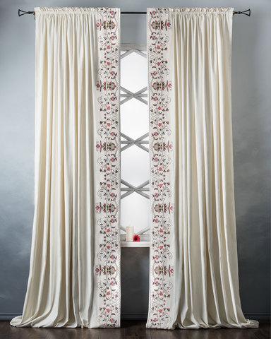 Комплект штор с подхватами Дебби белый