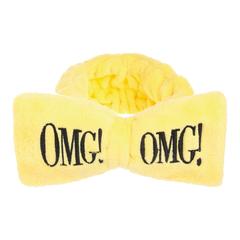 Бант-повязка для фиксации волос во время косметических процедур, жёлтый Double Dare OMG! HAIR BAND - YELLOW