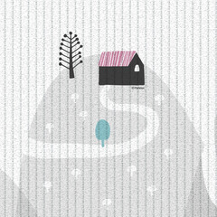 Двухсторонний коврик Pure Soft 190x130x1.2 см, Монстера/Холмы