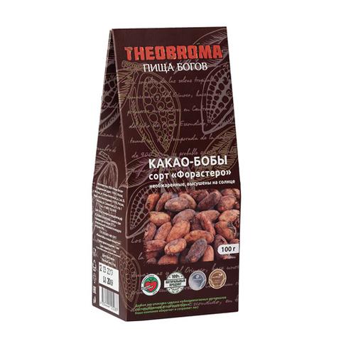 Какао-бобы высушены на солнце, 100 гр. (Пища богов)