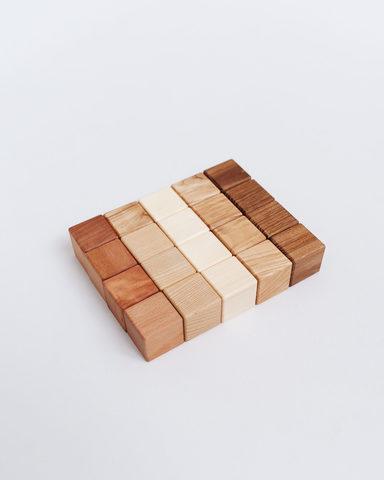 Кубики из натуральных пород (20шт)