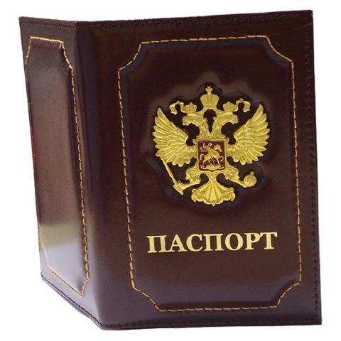 Обложка д/паспорта с мет. накладками