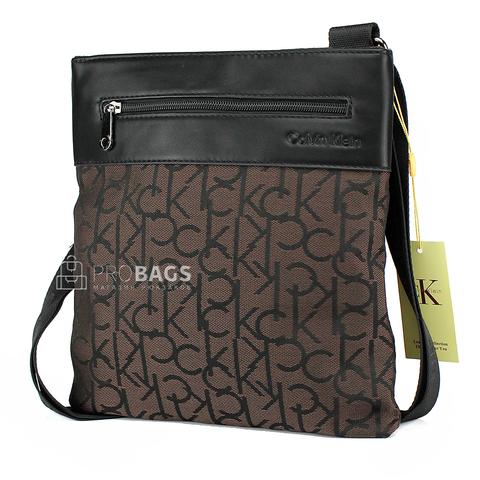 Мужская сумка планшет Calvin Klein A5 Brown 003
