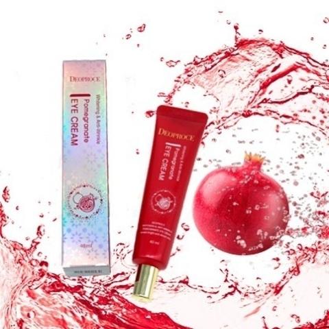 Крем для глаз антивозрастной Deoproce Whitening And Anti-Wrinkle Pomegranate Eye Cream