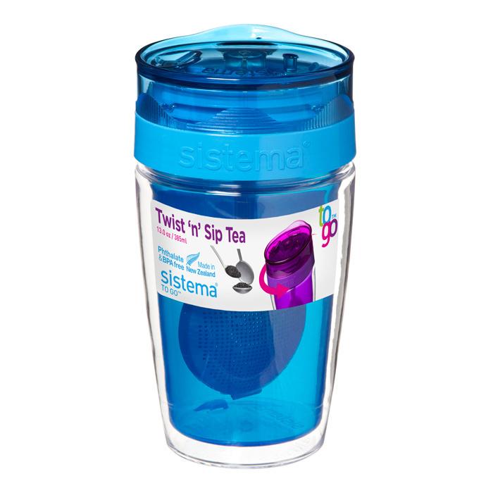 Термокружка для чая Sistema 370 мл, цвет Синий