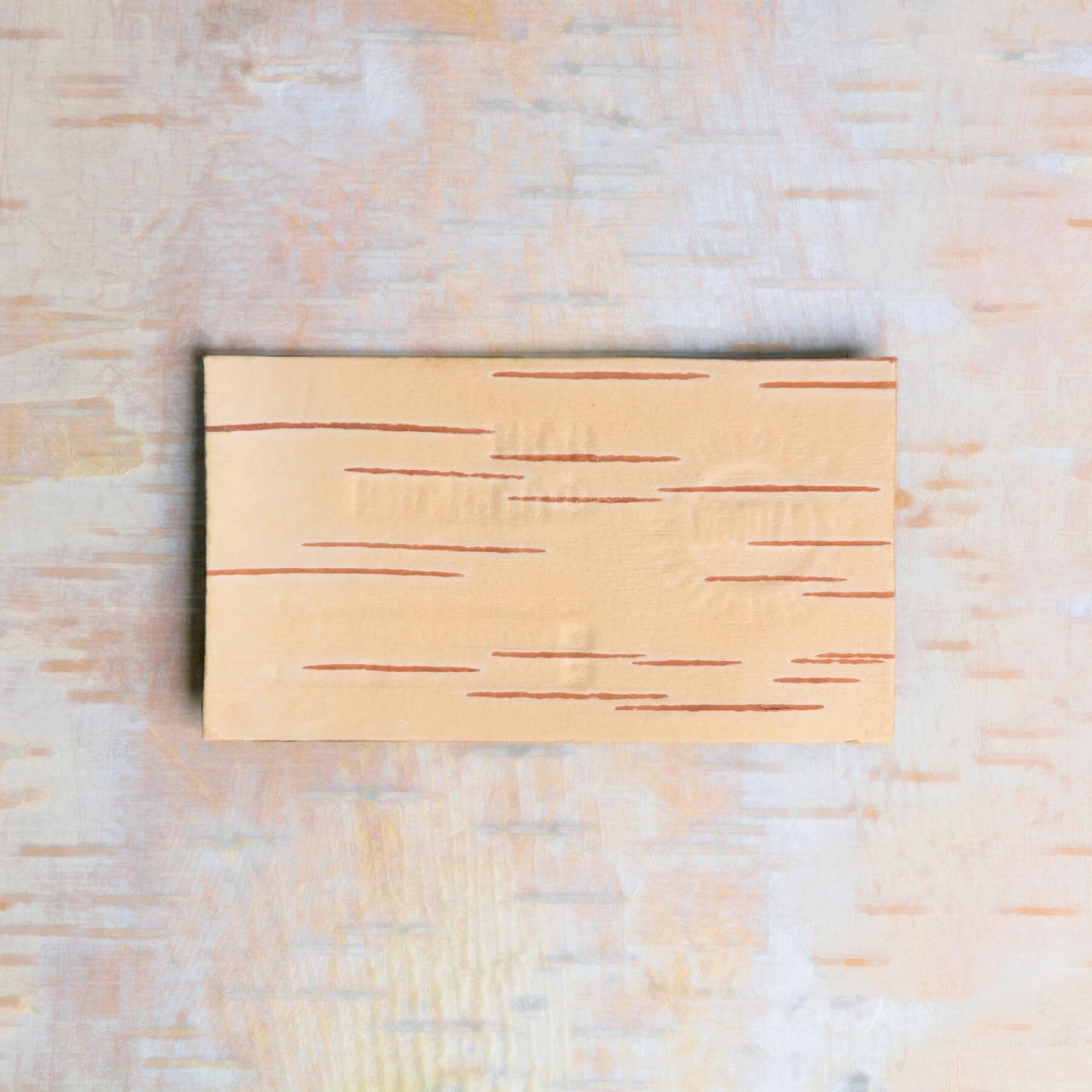 Ваша берестяная визитка с лицевой стороны