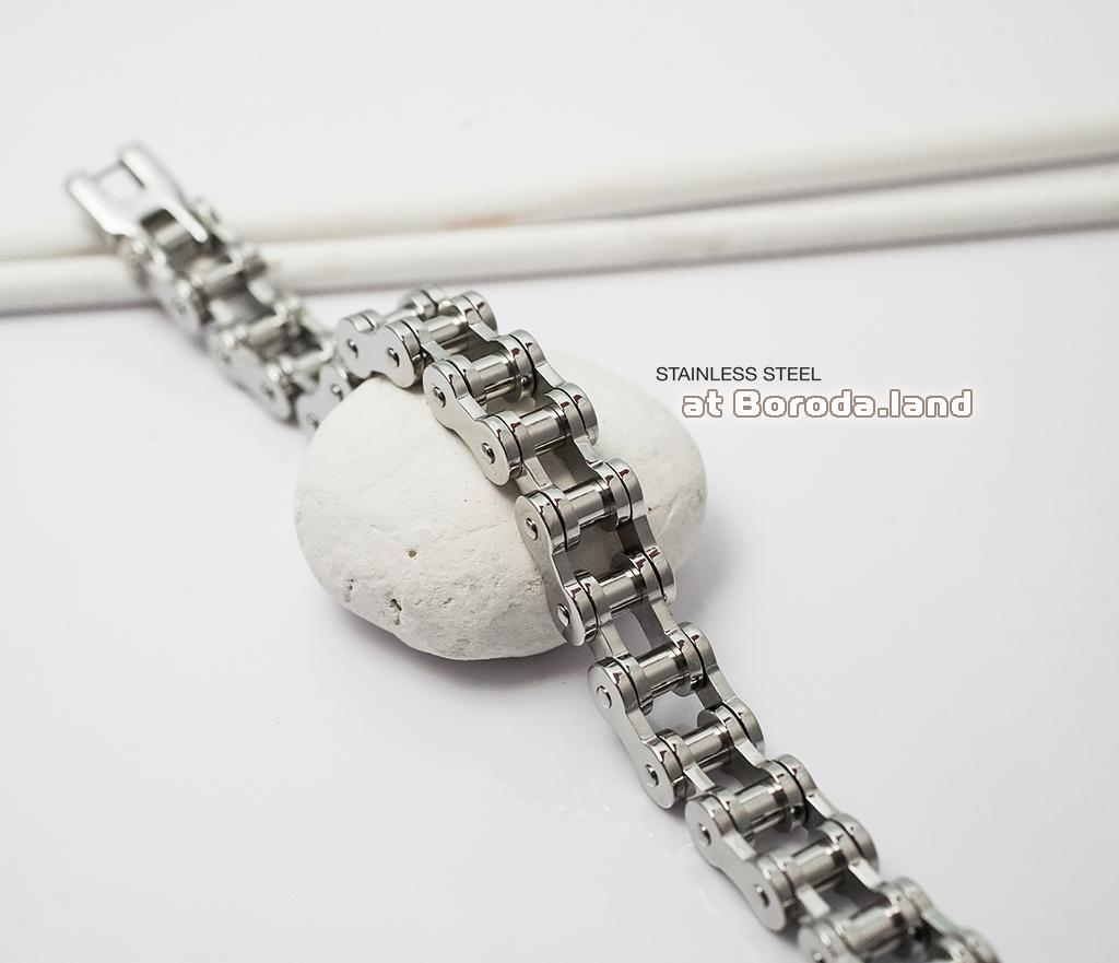 BM279 Стильный мужской браслет цепь из ювелирной стали (21 см)