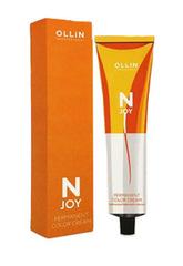 OLLIN N-JOY 10/35 – светлый блондин золотисто-махагоновый, перманентная крем-краска для волос 100мл