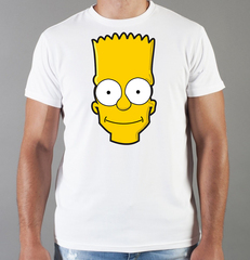 Футболка с принтом мультфильма Симпсоны (The Simpsons) белая 009