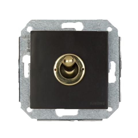 Выключатель тумблерный 10А 250В~. Цвет Золото/коричневый. Fontini F37(Фонтини Ф37). 67306542
