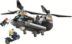 Конструктор Супер герои 11508 Погоня на вертолёте Чёрной вдовы 289 д