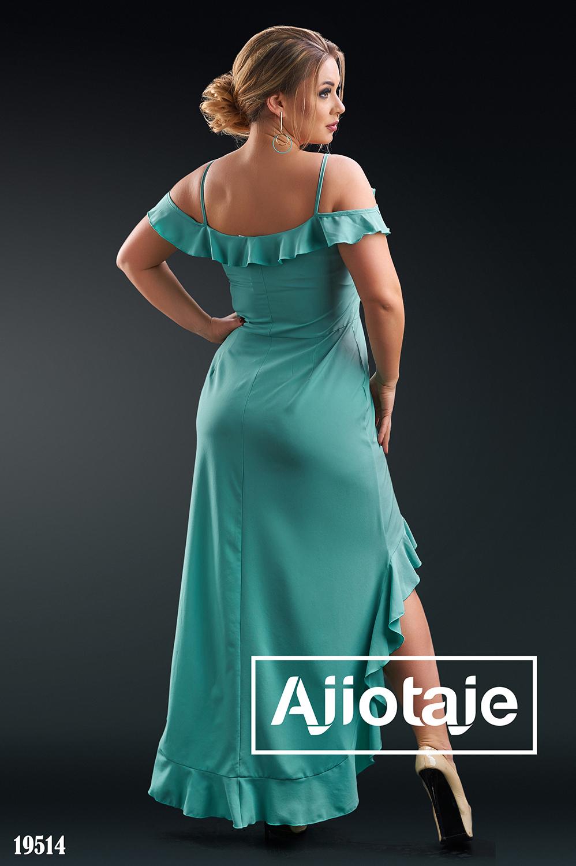 Платье с асимметрией в испанских мотивах