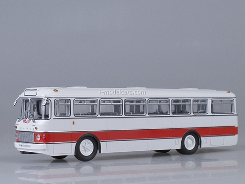 Ikarus-556 white-red Soviet Bus (SOVA) 1:43