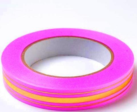 Лента золотая полоса BL (размер: 2 см х 50 ярдов) Цвет: ярко-розовый