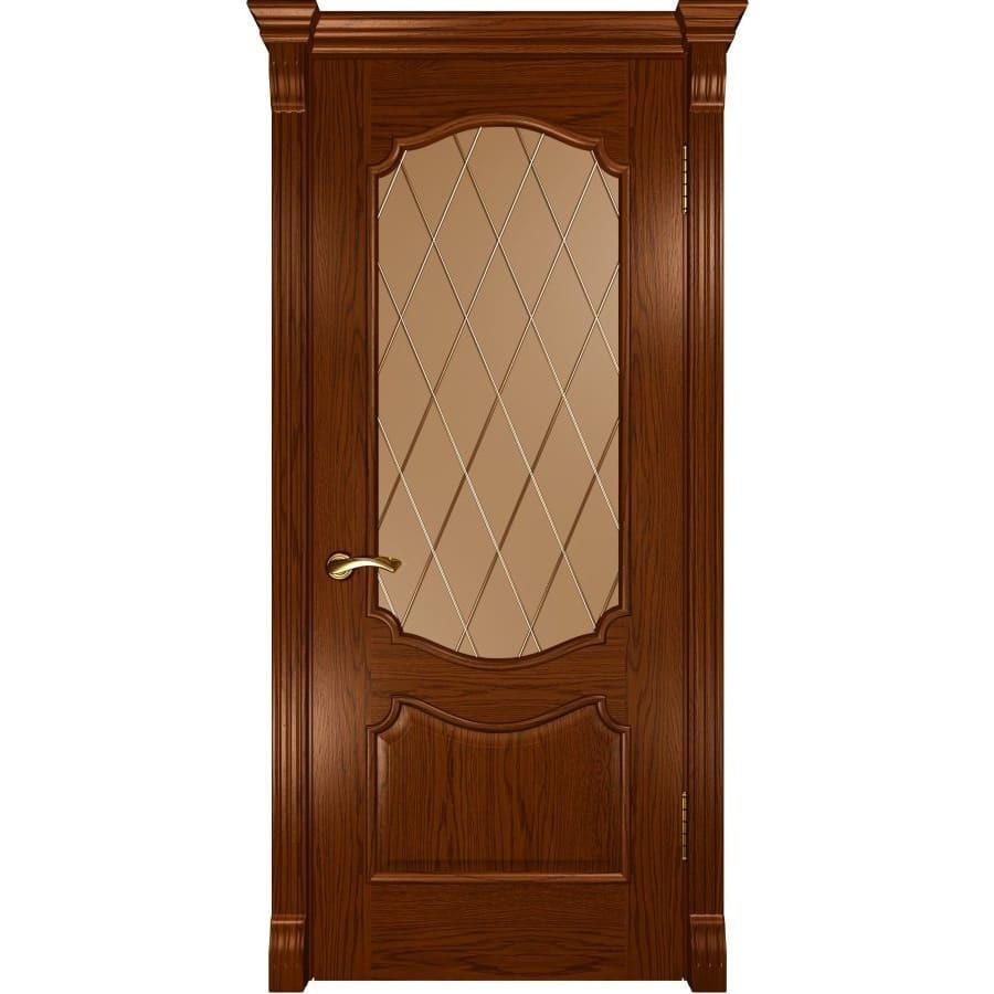 Межкомнатные двери Межкомнатная дверь шпон Luxor Венеция дуб сандал орех остеклённая veneciya-do-dub-sandal-dvertsov.jpg