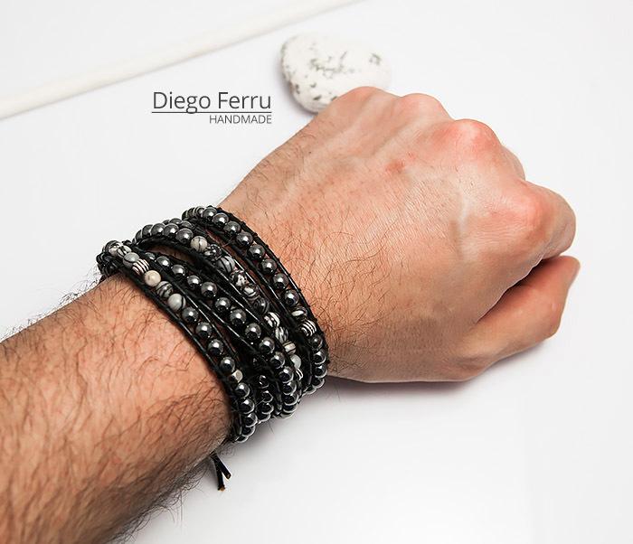 BS754 Крутой браслет «Diego Ferru» в стиле Chan Luu, ручная работы фото 05