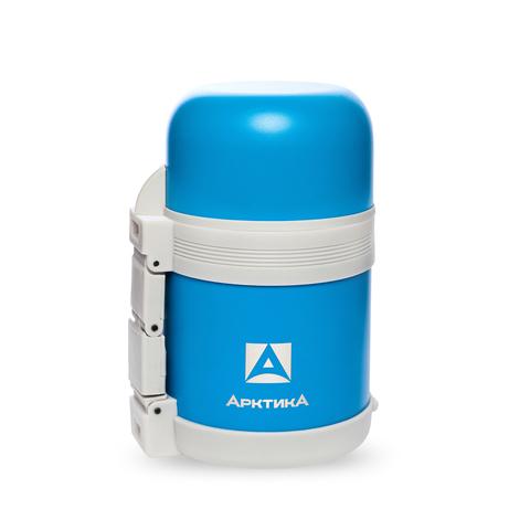 Термос универсальный (для еды и напитков) Арктика (0,6 литра) с широким горлом, синий