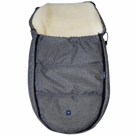 №S82 Спальный мешок в коляску exclusive (серый)