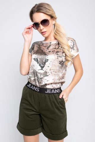 Шорты вельвет (хаки),. <p>Классные модные шорты удобного кроя на резинке!</p>