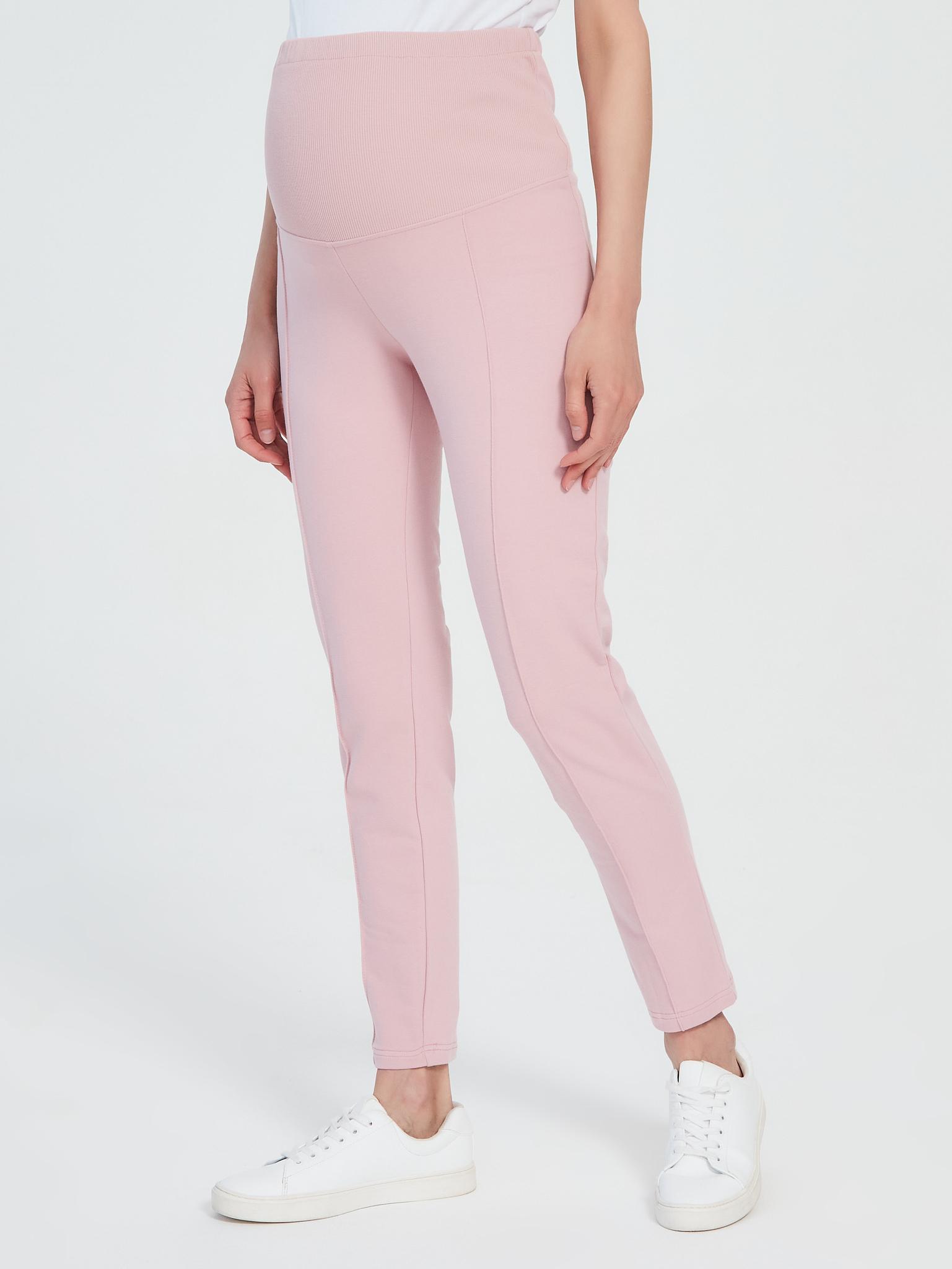 Трикотажные брюки из хлопка для беременных Chic mama