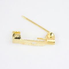 Основа для броши 15х4 мм (цвет - золото), 95-100 штук