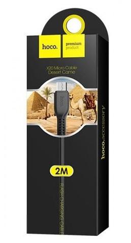 Кабель USB - microUSB Hoco X20 2м черный