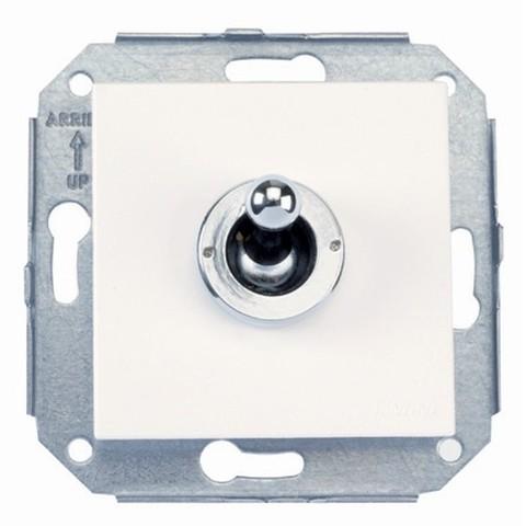 Выключатель тумблерный 10А 250В~. Цвет Хром/белый. Fontini F37(Фонтини Ф37). 67306262