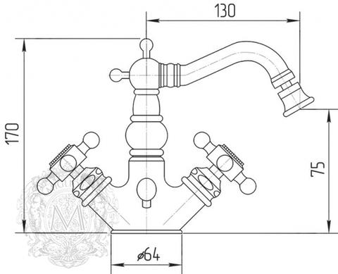 Смеситель для биде Migliore Arcadia ML.ARC-8344 схема