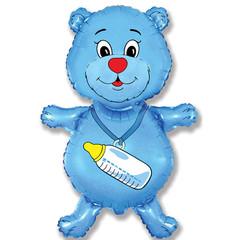 F Мини-фигура, Медвежонок мальчик, Синий, 14