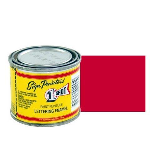 Эмали для пинстрайпинга 904-P Эмаль для пинстрайпинга 1 Shot Перламутровый Ярко-красный (Bright Red), 236 мл BrightRed.jpg