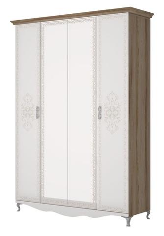Династия 01 Шкаф 4 двери зеркало