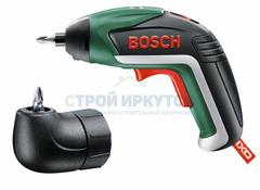 Аккумуляторный шуруповёрт с литий-ионным аккумулятором Bosch IXO Medium Комплект — c угловой насадкой (06039A8021)
