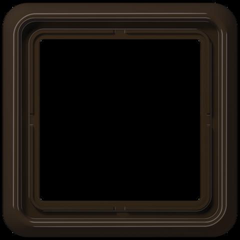 Рамка на 1 пост. Цвет Коричневый. JUNG CD 500. CD581BR