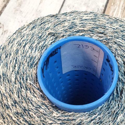 Хлопок со льном и вискозой CASA DEL FILATO / DENVER 180 сине-серо-белый