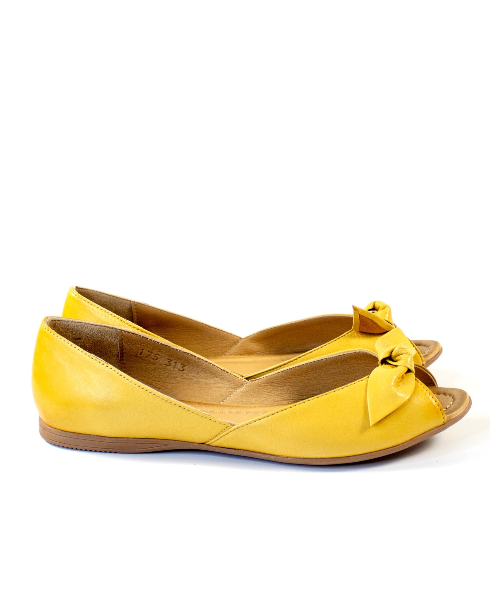 желтые балетки Mario Muzi