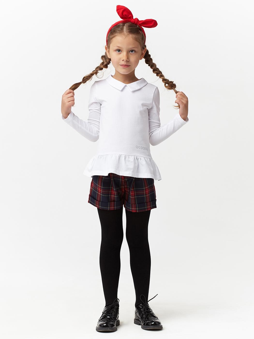 Шорты школьные из смесовой шерсти