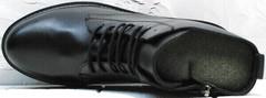 Женские кожаные ботинки демисезонные Misss Roy 252-01 Black Leather.