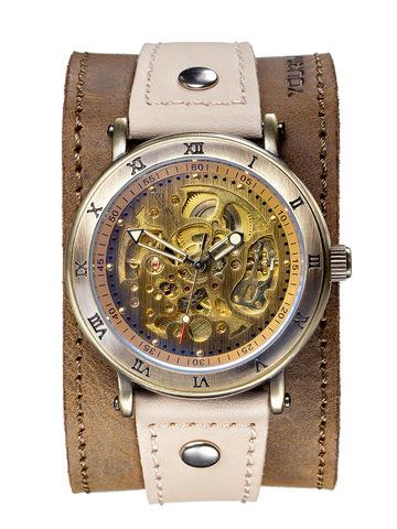 Часы скелетоны мужские механические Steampunk YOURTIME