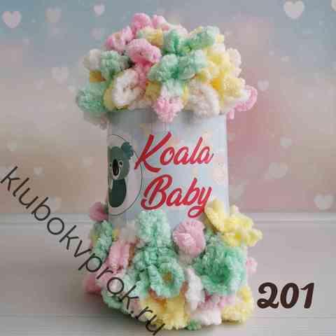 HIMALAYA KOALA BABY COLORS 201, Розовый желтый зеленый белый