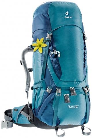 Картинка рюкзак туристический Deuter Aircontact 60+10 SL Denim-Midnight - 1